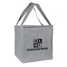 Small Printed Utility Tote - Gray Chevron