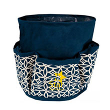 Round Printed Utilitly Tote, Navy Sailing Compass