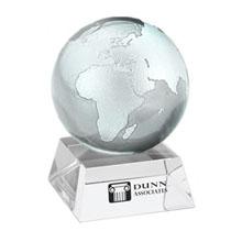 Clear Crystal Globe w/ Crystal Stand