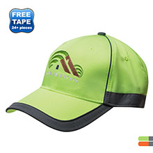 Bayside™  Reflective Stripe Structured Safety Cap