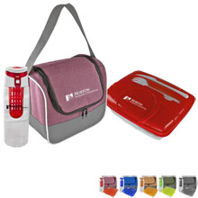 Lunch Cooler, Container & Infuser Bottle Set