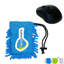 Wireless Mouse w/ Full Color Frizzy Bag