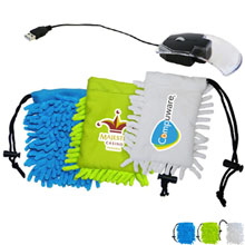 Clear Mouse w/ Full Color Frizzy Bag