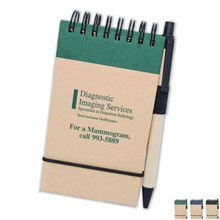 Recycled New World Eco Jotter w/ Pen