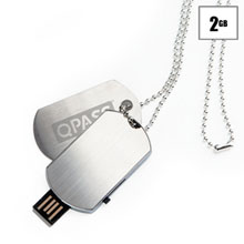 Dog Tag USB Flash Drive, 2GB