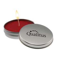 Aromatherapy Candle in Metal Tin, 4 oz.