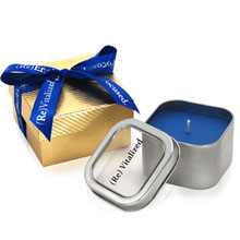 Aromatherapy 8 oz. Candle in Gift Box w/Ribbon