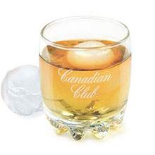 Arctic Ice Ball Whiskey Glass Set, 10oz.