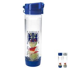 Fruit Infuser Bottom Tritan Sport Bottle, 20oz., BPA Free