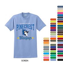 Full Color Gildan® 100% UltraCotton™ Short Sleeve Tee, Color Shirt