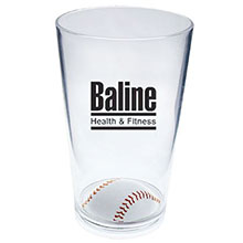 Baseball Plastic Sport Pint, 16oz.