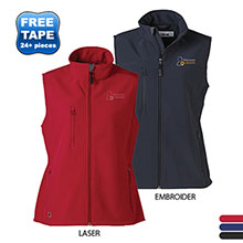 Innis Ladies' Bonded Fleece Soft Shell Vest