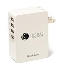 Brookstone® 4-Port USB Wall Charger