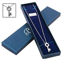 Cubic Zirconia Key Necklace