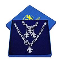 Fleur de Lys 4 Piece Jewelry Set