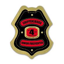 Junior Firefighter Foil Sticker Badge