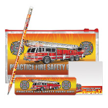 Practice Fire Safety Every Day Fire Truck School Kit, Stock