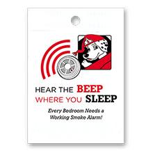 "Hear the Beep Where You Sleep 9"" x 12"" Litterbag, Stock"