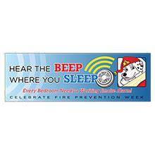 Hear the Beep Where You Sleep Heavy Duty Banner, Stock