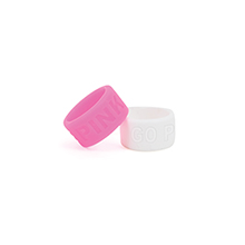 Debossed Breast Cancer Awareness Silicone Thumb Ring, 12 Day