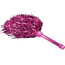 Team Spirit Pink LED Pom Poms