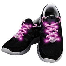 Pink LED Shoelaces