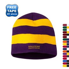 Sportsman® Rugby Striped Knit Beanie
