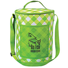 Printed Round Cooler - Gingham
