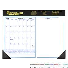 "Desk Pad Calendar & Note Pad, 17"" x 22"""