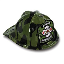 Chief's Choice Green Camo Firefighter Hat, Jr. Firefighter Stock