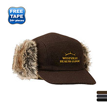 Winter Wool Trapper Hat With Earflaps