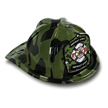 Chief's Choice Green Camo Firefighter Hat, Jr. Firefighter Design