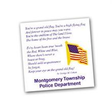 U.S. Flag Lapel Pin, Custom Card