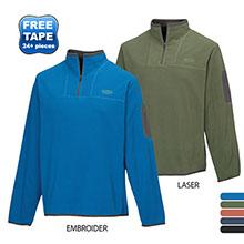 Cordova Men's Textured Fleece Quarter Zip