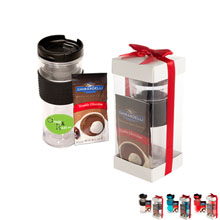 Cool Gear™ Mason Coffee Tumbler & Ghirardelli® Cocoa Set