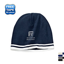 Port & Company® Fine Knit Skull Cap with Stripes