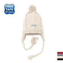 District® Wool Blend Cabled Beanie with Pom