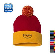 Sportsman® Pom Pom Acrylic Knit Cap, Contrast Cuff