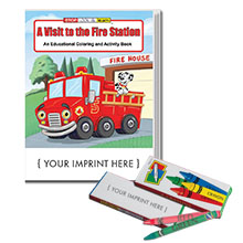 A Visit to the Fire Station Coloring Book w/ Crayons, Fun Pack