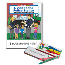 A Visit to the Police Station Coloring Book w/ Crayons, Fun Pack