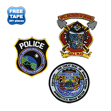 Embroidered Patch Emblem, 3""