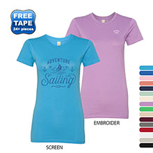 Alternative® Basic 100% Ringspun Cotton Ladies' Crew Tee