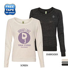Alternative® Eco-Jersey Slouchy Pullover Ladies' Long Sleeve Tee