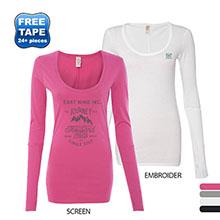 Alternative® Baby Rib-Sleeve Long Sleeve Scoopneck Ladies' Tee