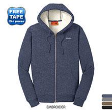 CornerStone® Heavyweight Sherpa-Lined Hooded Men's Fleece Jacket