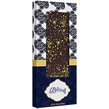 Gourmet Belgian Chocolate Bar with 23K Gold Flakes