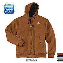 CornerStone® Heavyweight Full-Zip Hooded Men's Sweatshirt with Thermal Lining