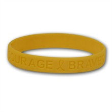 Yellow Wristbands - Hope, Courage, Stock