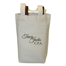 Calistoga Two-Bottle Cotton Wine Tote