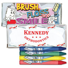 Four Pack Crayons, Dental Design Custom